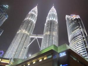 Petrona Towers at night (Kuala Lumpur, Malaysia)