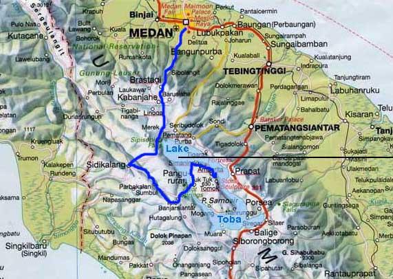 Map North Sumatra Lake Toba